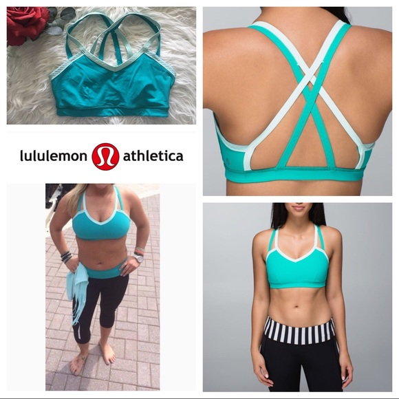 d943abbf7 lululemon athletica Other - EUC Lululemon Water Bound Bra Blue Tropics